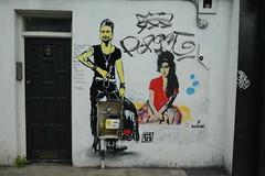 Morganico + Bambi street art, Camden