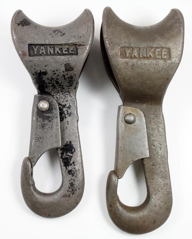 RD23613 RD26915 Rare & Unusual Antique Covert Yankee Snap Hooks DSC03872