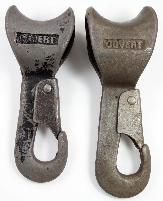 RD23613 RD26915 Rare & Unusual Antique Covert Yankee Snap Hooks DSC03871