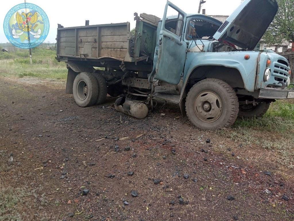 Camion touché par un missile antichar en RPL