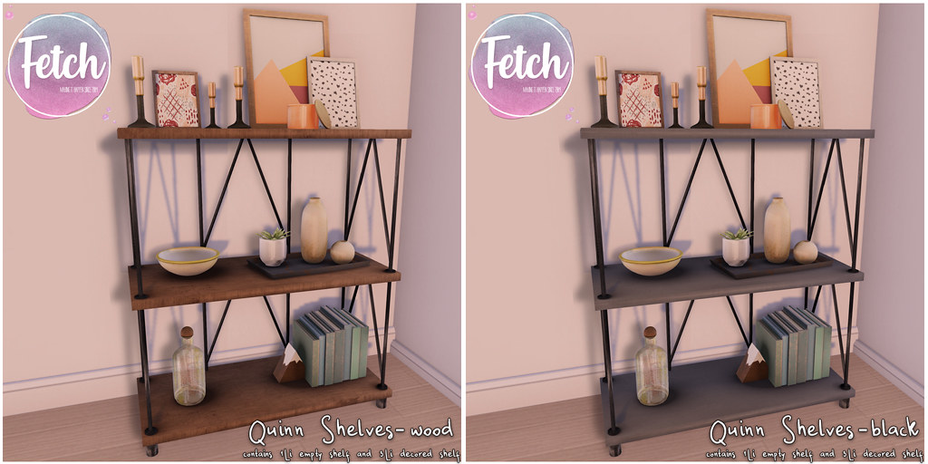 [Fetch] Quinn Shelves @ Fifty Linden Friday!