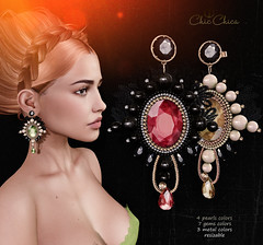 Elizabeth earrings by ChicChica @ Collabor88