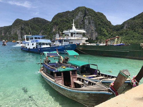 Wooden longboats, Phi Phi Islands