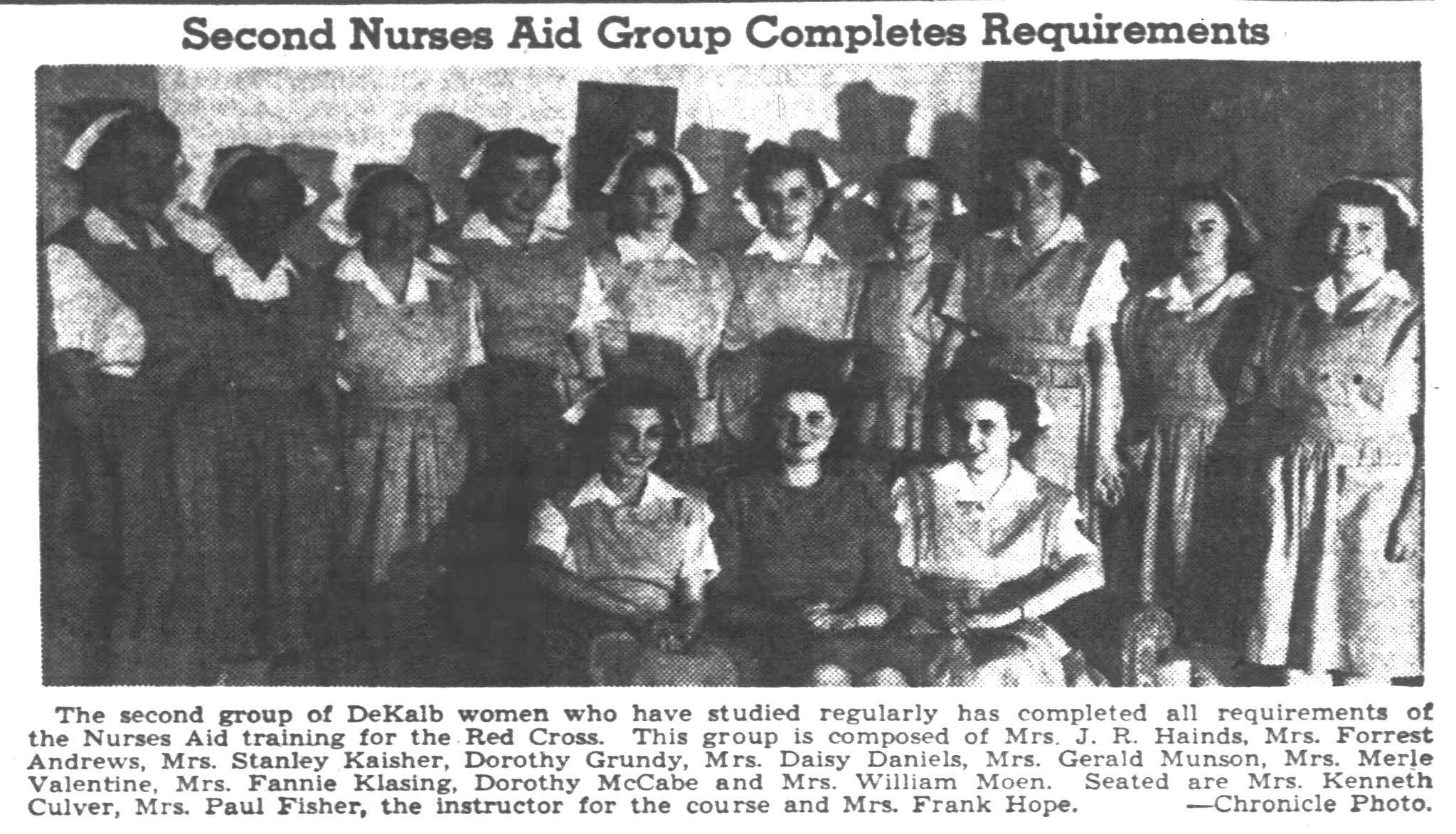 Volunteer Nurse's Aides 1942