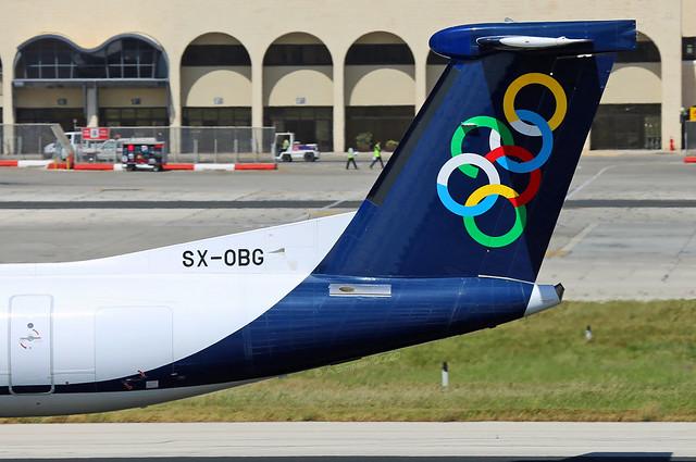 Olympic Air - SX-OBG tail - Malta International Airport (MLA/LMML)