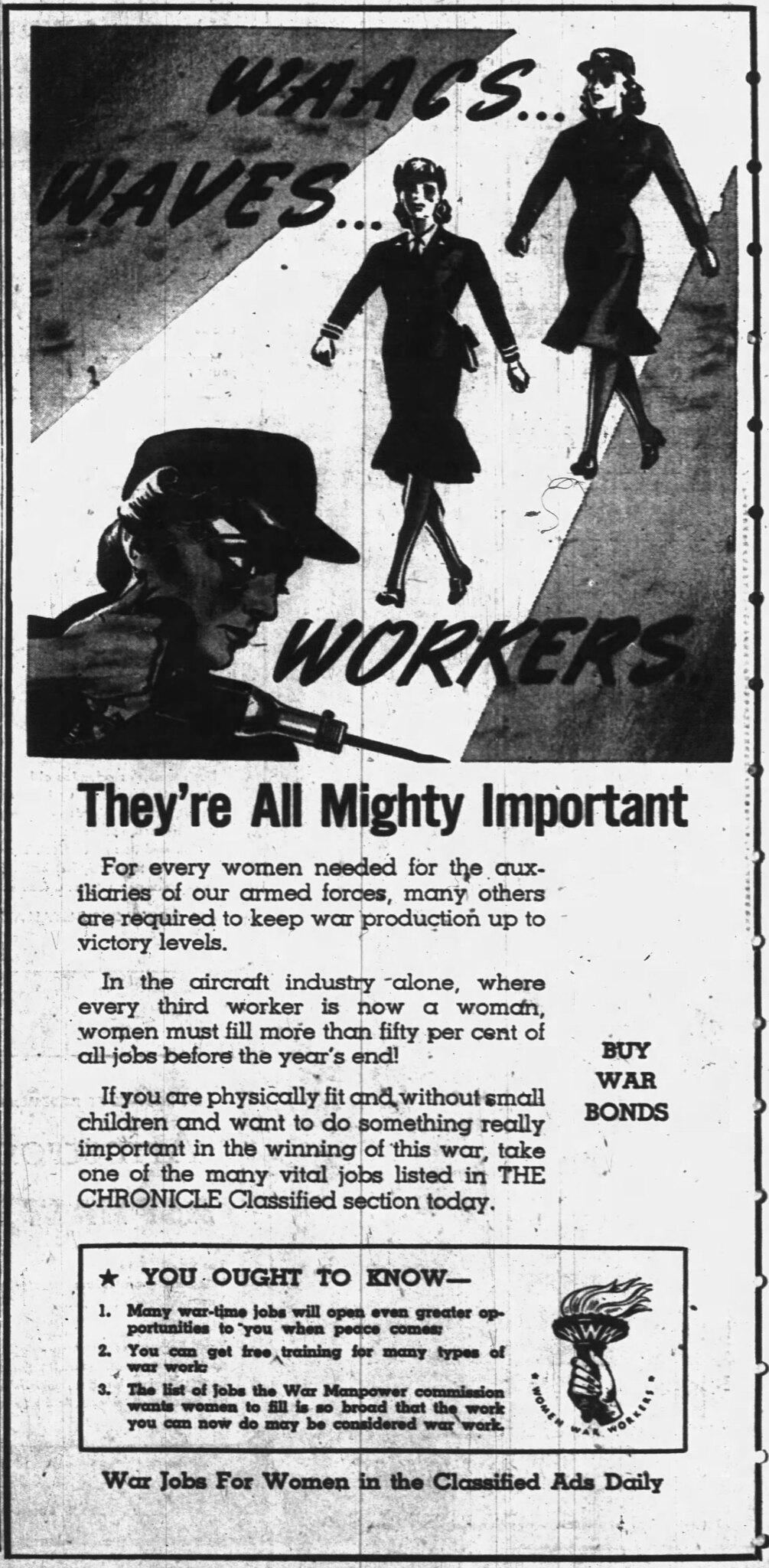 Ad for War Jobs for Women