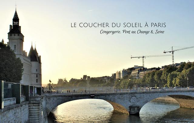 Seine & Pont au Change - Sunset