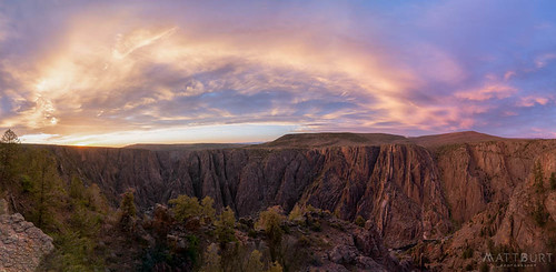 blackcanyon clouds gunnisonpoint sunset