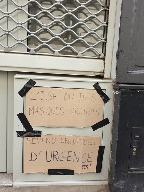 Revenu universel d'urgence! 52ème jour de confinement. Paris 20ème. 7 mai 2020