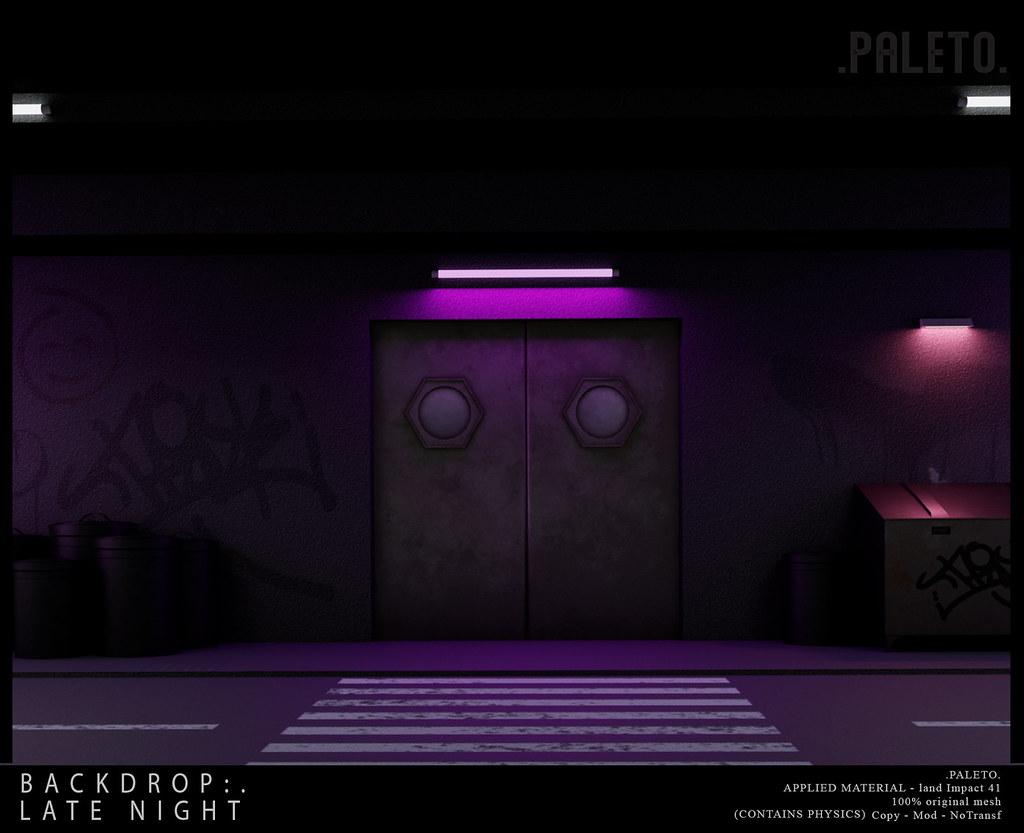 .PALETO. Backdrop:. Late night