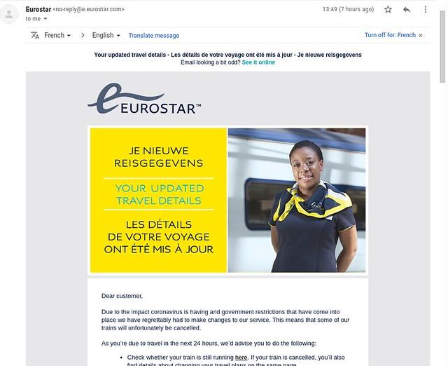 Eurostart cancellation