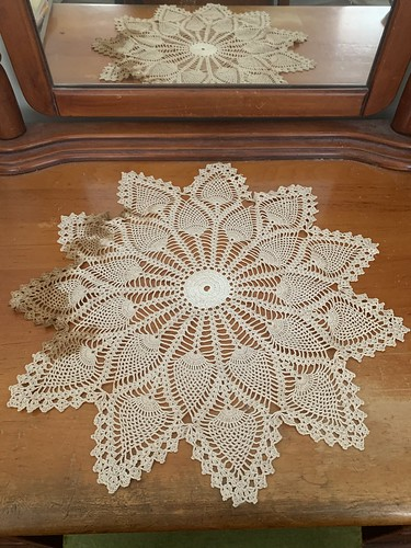 great grandmother's doily