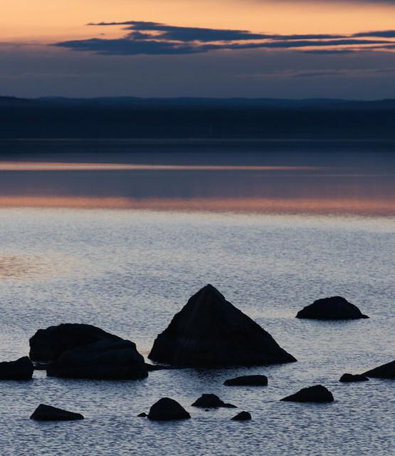 Sunset in Tällberg. Dalarna.