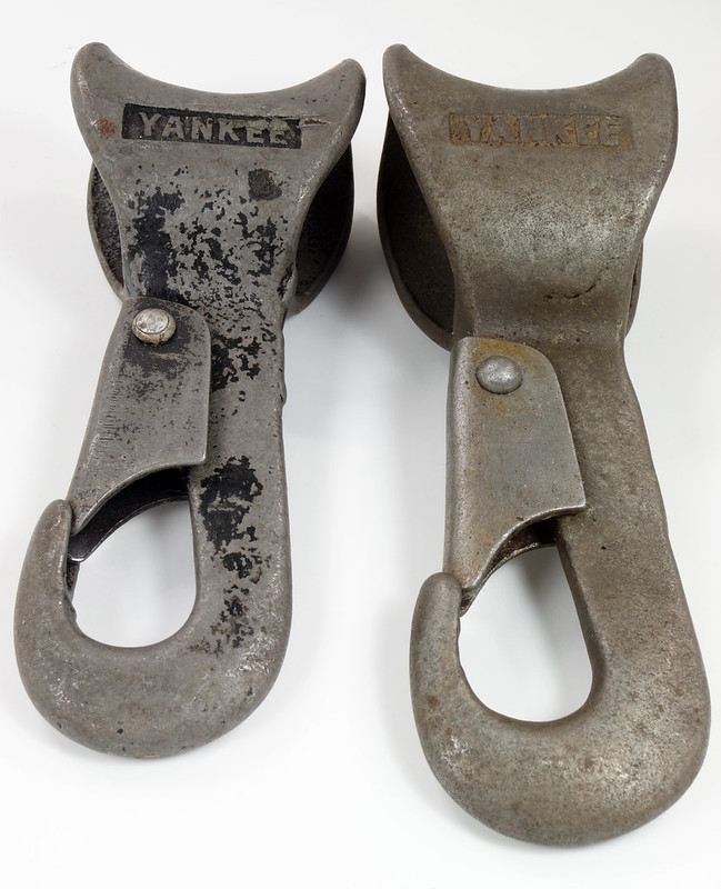 RD23613 RD26915 Rare & Unusual Antique Covert Yankee Snap Hooks DSC03875