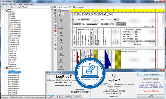 Working with RockWare LogPlot 7.4.113.119 full license