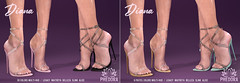 "Phedora for FaMESHed ~ ""Diana"" Heels ♥"