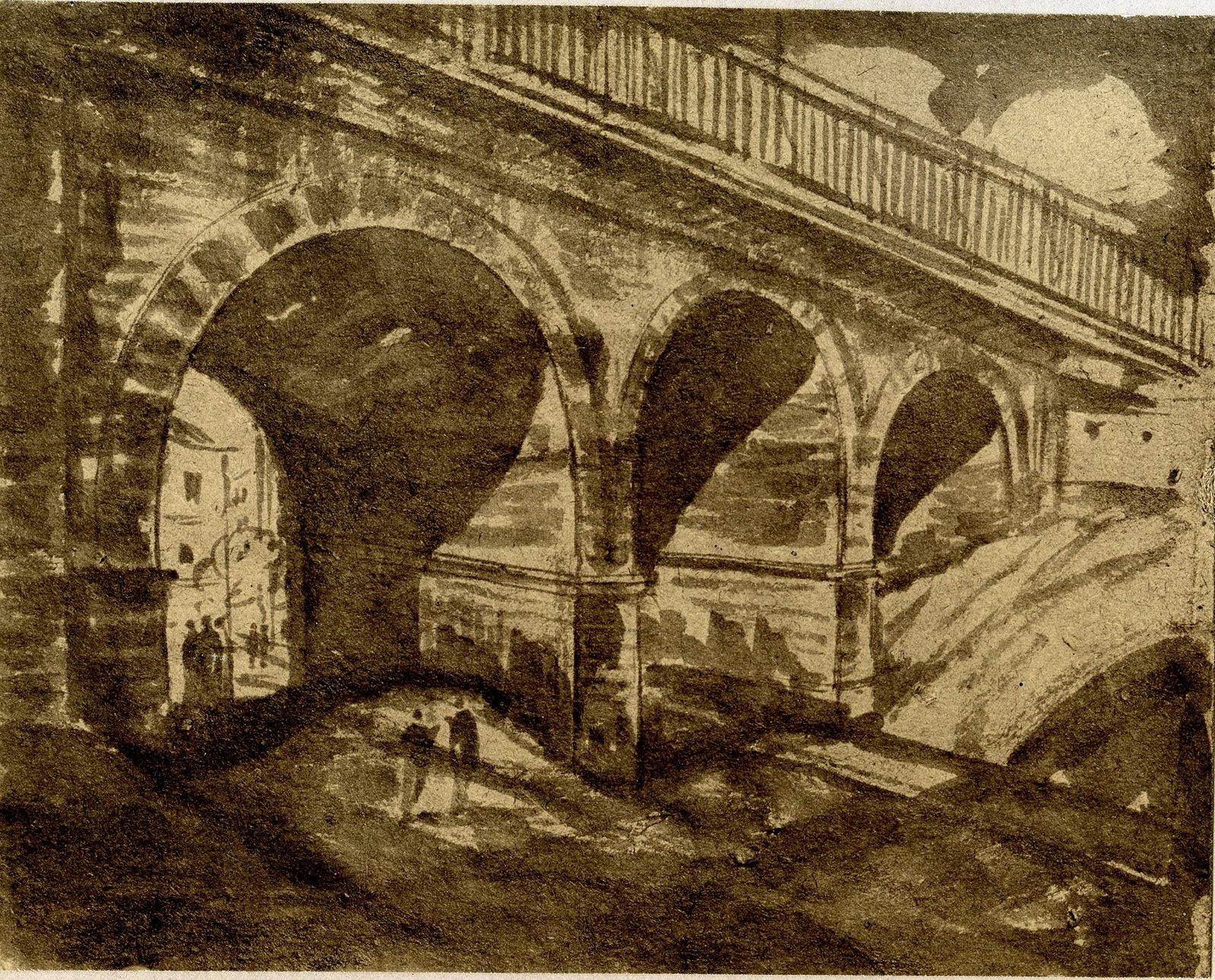 Строганов мост, аркады