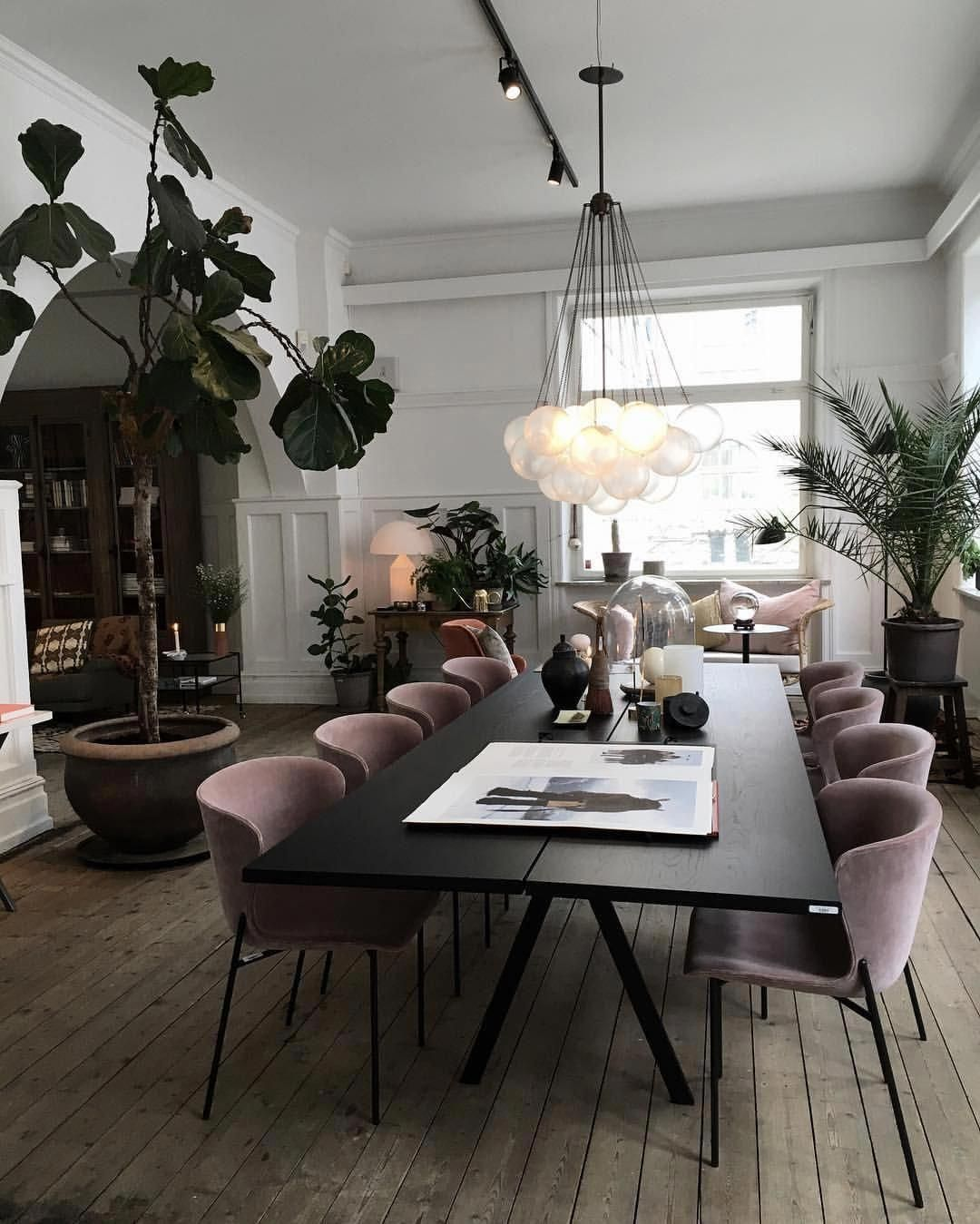 Moody Rustic Home Decor | Purple Gray Velvet Chairs | Velvet Dining Room Chairs | Velvet Dining Chairs | Dining Room Inspiration | Dining Room Ideas | Dining Room Decor | Globe Cluster Chandelier Light Fixture