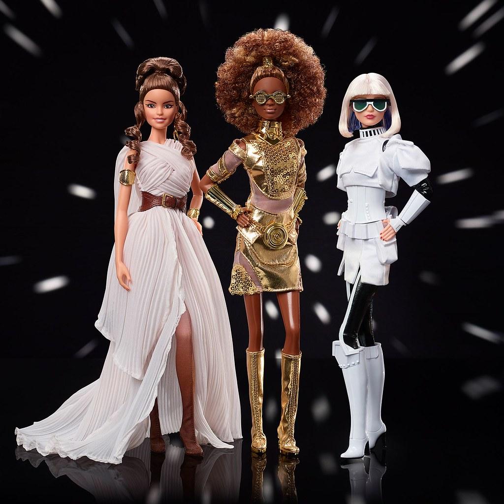願原力與芭比同在!MATTEL《星際大戰 x 芭比娃娃》 芮 / C-3PO / 丘巴卡 / 帝國風暴兵 聯名芭比娃娃(Star Wars x Barbie collection)