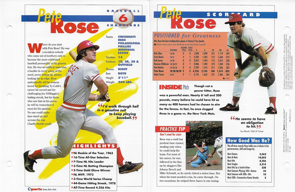 1996 pete rose baseball 08d