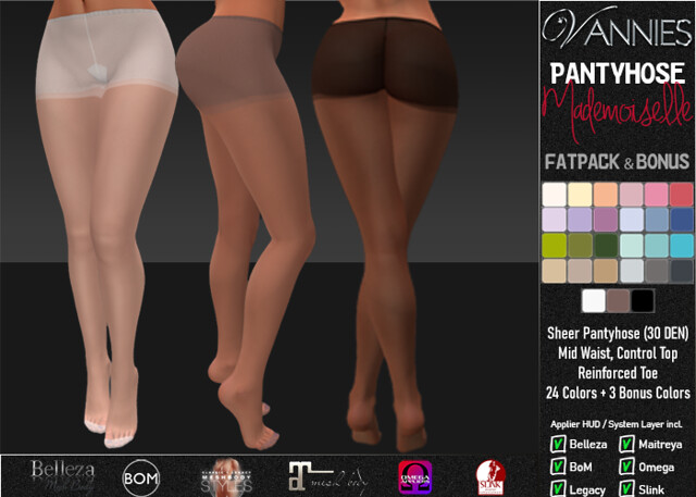 VANNIES Pantyhose Mademoiselle Fatpack - 27 Colors