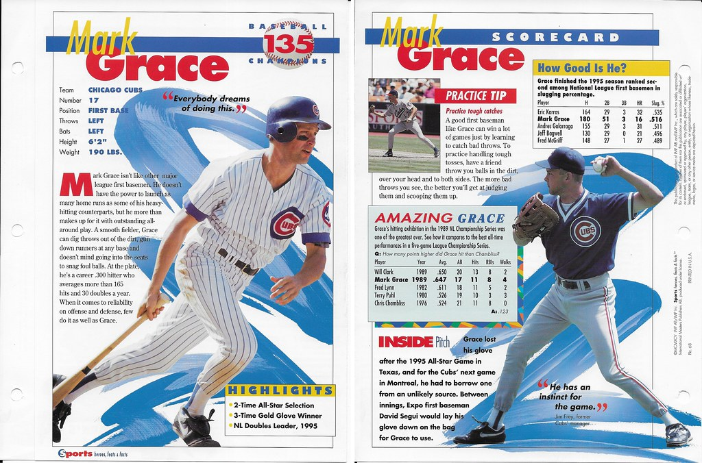 1995 mark grace baseball 68