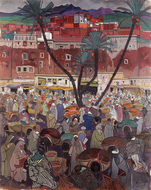 Jacques-Majorelle-1924-Kasbah-rouge