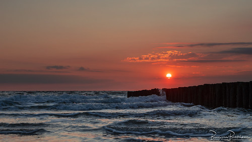 Sunset and Breakwater