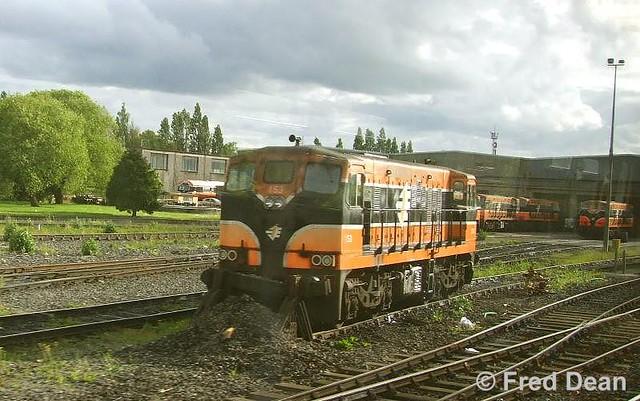 Irish Rail 153 in Inchicore.