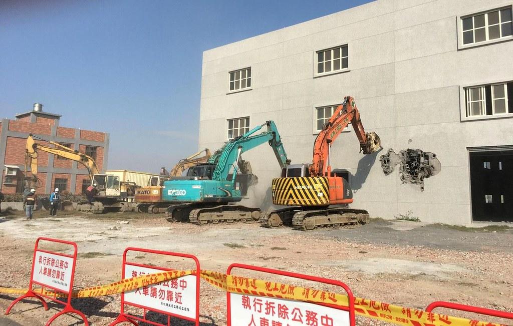 彰化頂番婆農地上新建違章工廠。圖片來源:地球公民基金會提供、吳其融攝。
