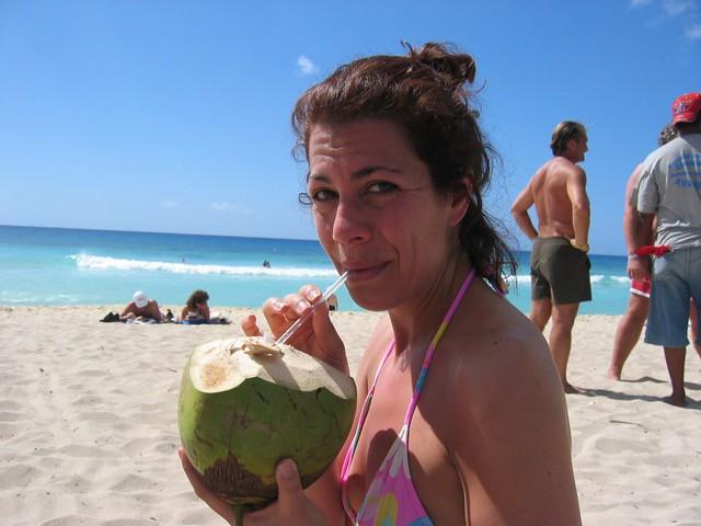 Sarah loves the beach