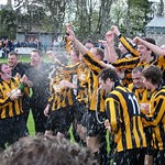 The Huntly squad celebrate clinching the 2004/05 championship (Dave Moore)