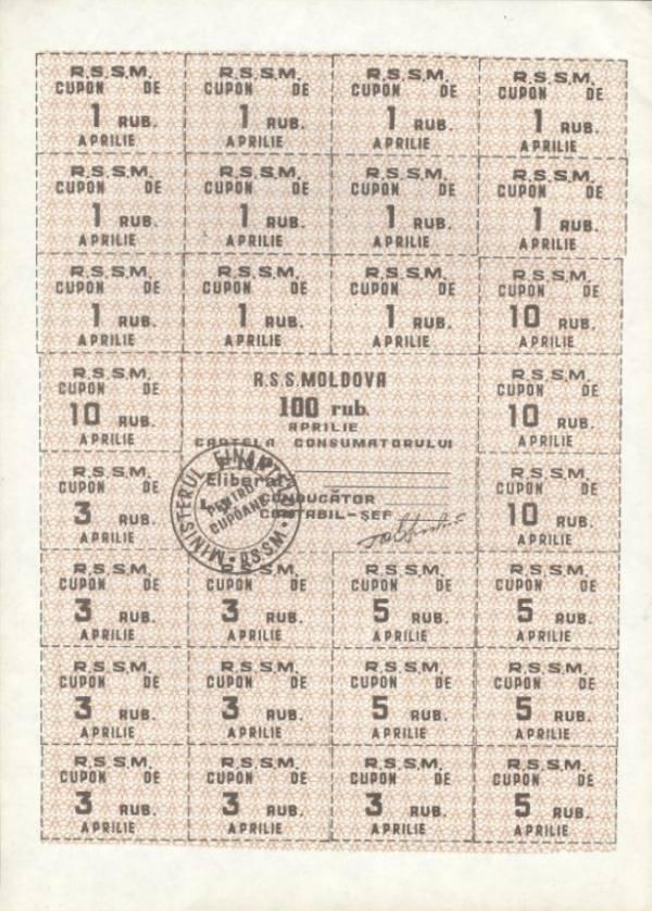 1000 Rublov Moldavsko 1992, A21a UNC list 28 kupónov