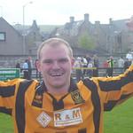 Richard Taylor celebrates (Fraser Newlands)