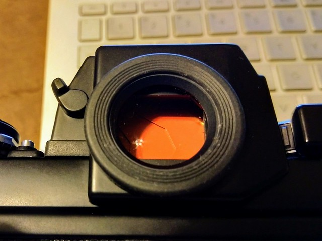 Nikon F3 Viewfinder Red Shutters