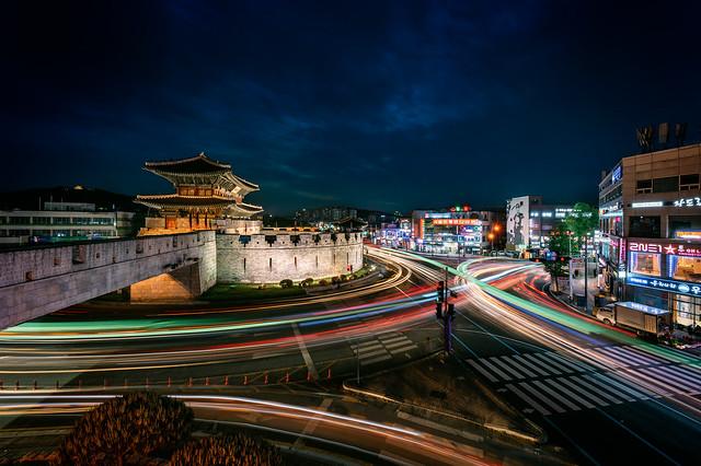 Hwaseong Fortress Springtime