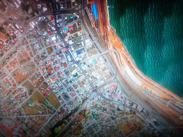 Port Elizabeth on my screen #toronto #portelizabeth #southafrica #satelliteimage #googleearth #googlehome #television