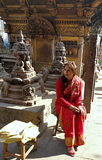 Girl at Stupa