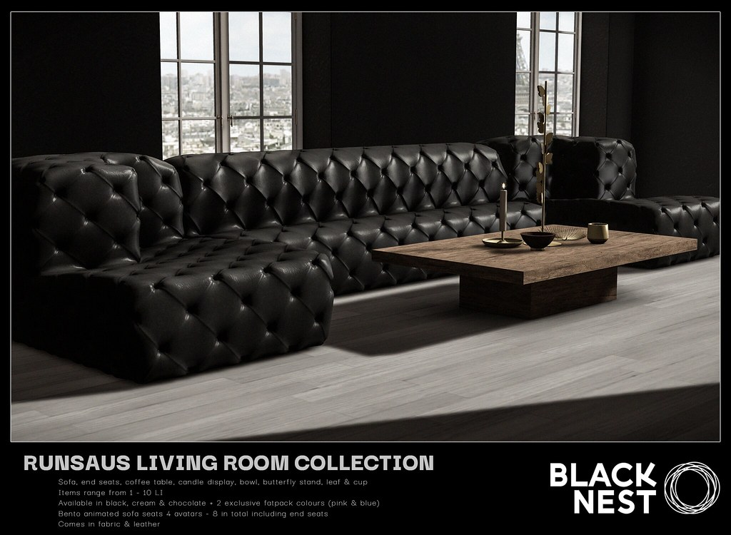 BLACK NEST / Runsaus Living Collection / Collabor88