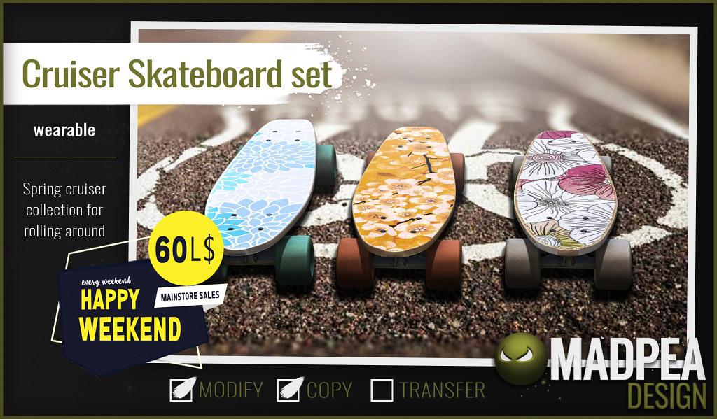 MadPea Cruiser Skateboard Set is a very Happy Weekend!