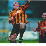 Richard Taylor celebrates scoring again Peterhead in the Scottish Cup
