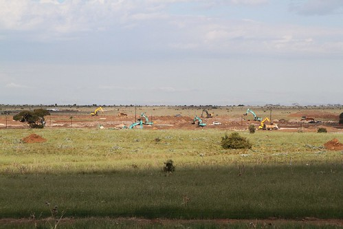 Roads starting to take shape at Stockland's 'Mt Atkinson' housing estate