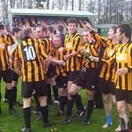 Huntly celebrate clinching the 2004/05 championship (Fraser Newlands)