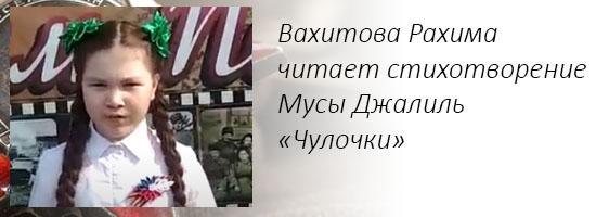 Вахитова Рахима читает стихотворение Мусы Джалиль «Чулочки»