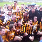 Huntly celebrate with the championship trophy (Fraser Newlands)