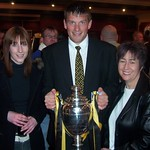 Alix Turner, Martin Stewart & Kathleen Macpherson with the championship trophy
