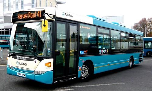 YN08 HZW 'ARRIVA Midlands' No. 3809. Scania K230UB / Scania Omnilink on Dennis Basford's railsroadsrunways.blogspot.co.uk'