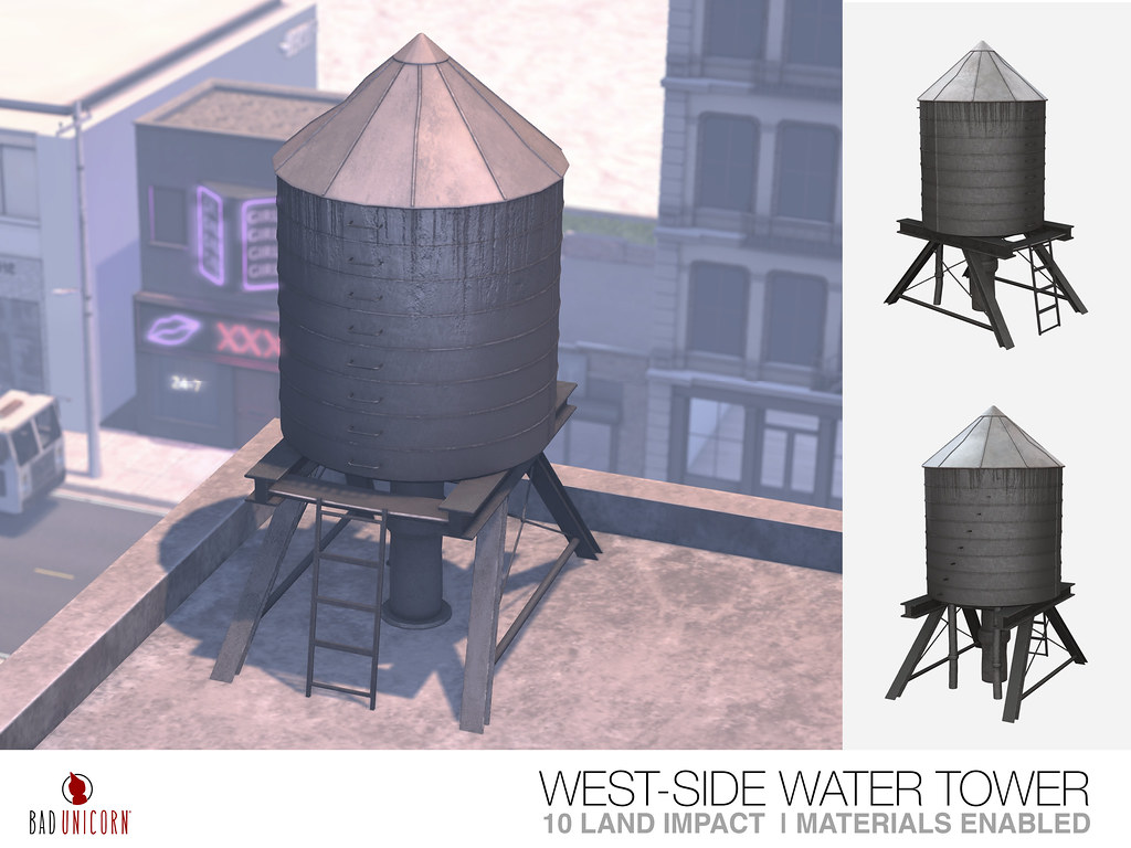 NEW! West-Side Water Tower – *ONLY 50 LINDENS!*