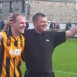Richard Taylor & Billy Anderson celebrate (Fraser Newlands)