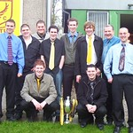 Match Sponsors with the league championship trophy (Fraser Newlands)
